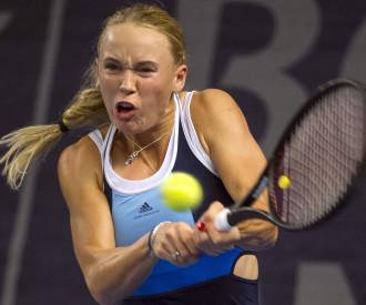 TENNIS Annika Beck of Germany vs Caroline Wozniacki of Denmark LUXEMBOURG 2013