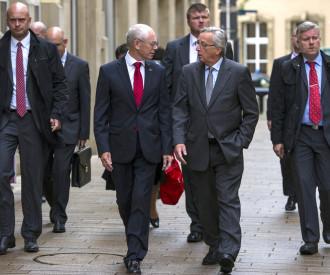 Jean Claude Juncker meet Herman Van Rompuy