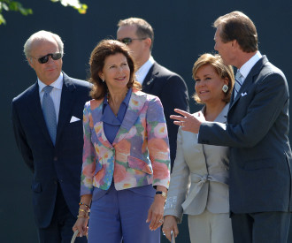 Sweden's King Karl Gustav XVI, Queen Silvia, Luxembourg Grand Duchess Maria Teresa, Grand Duke Henri