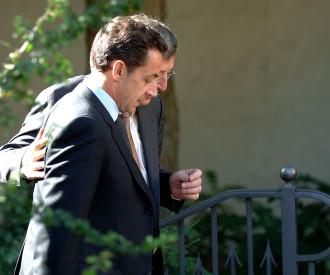 France's Interior Minister Nicolas Sarkozy, Luxembourg Prime Minister Jean-Claude Juncker