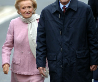 French President Jacques Chirac and wife Bernadette