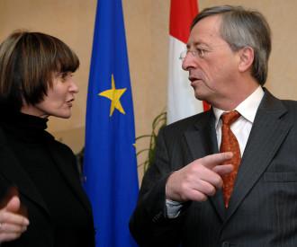Swiss president Micheline Calmy Rey