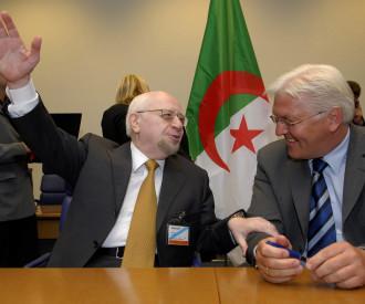 Algeria Foreign Minister Mohammed Bedjaoui, German counterpart Frank Walter Steinmeier
