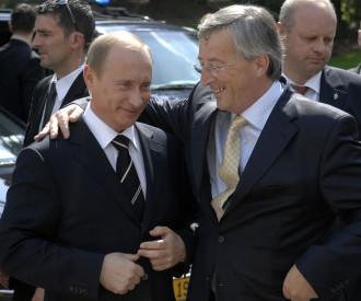 Russian President Vladimir Putin, Luxembourg Prime Minister Jean Claude Juncker