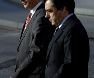 Luxembourg's Prime Minister Jean Claude Juncker, French Prime Minister Francois Fillon