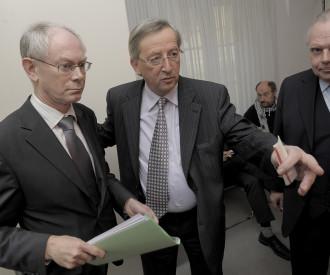 Luxembourg Prime Minister Jean Claude Juncker, Belgian Prime Minister Herman Van Rompuy
