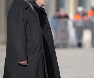 Luxembourg Prime Minister Jean Claude Juncker, Germany Chancelor Angela Merkel