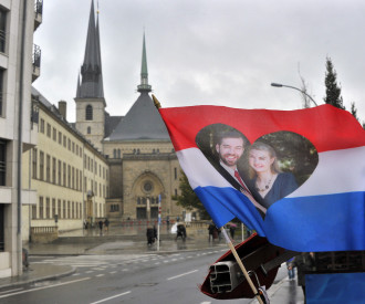 Luxembourg wedding of Prince Guillaume of Luxembourg and Belgian Countess Stephanie de Lannoy