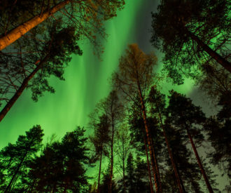 Northern light in Kuopio, Finland
